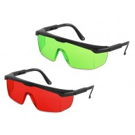 laser intensive glasses for better visibility of red laser beam.