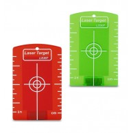 Red or green magnetic target with cm/inch graduation